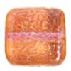 Glass Bead Squares 8mm Two-Tone Sugar Orange/Red - Strung